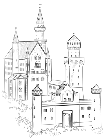 germany flag coloring page neuschwanstein castle coloring page
