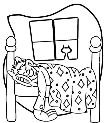 Night Time  coloring page