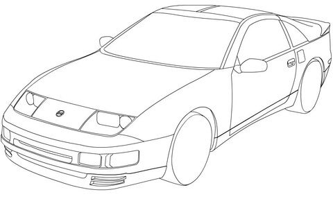 nissan gt r coloring page nissan 300zx coloring page