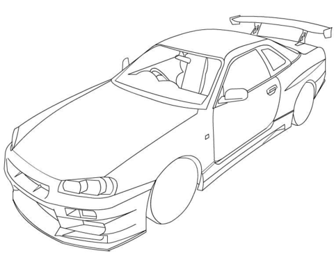 nissan 350z coloring page free printable coloring pages