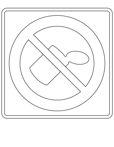 No Littering coloring page