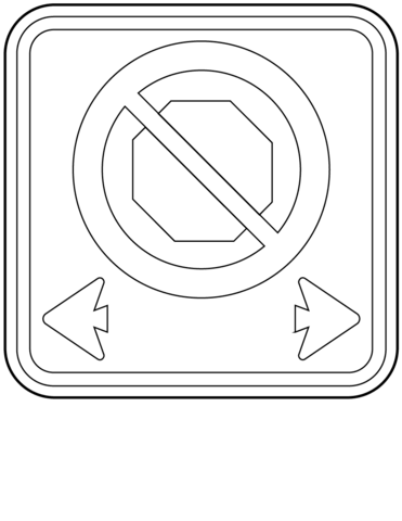 No Stopping coloring page