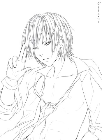 Noah Anime Boy by Reixjune coloring page