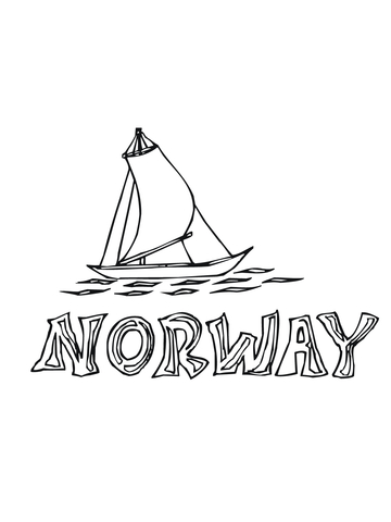 Nordland Boat coloring page