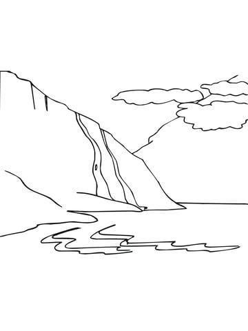 Norway Fjord coloring page