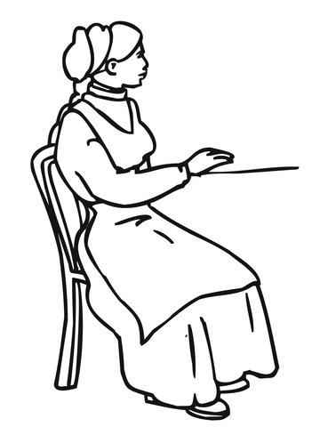 Norway Women in Traditional Costume coloring page