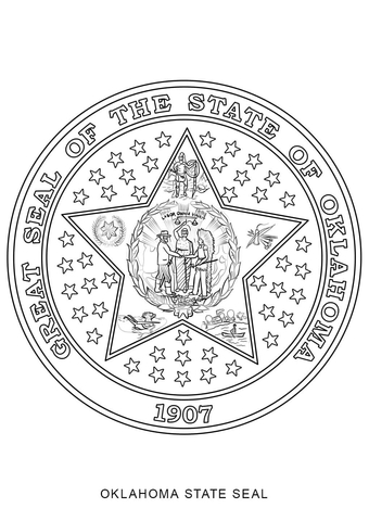 hawaiian girl coloring page oklahoma state seal coloring page