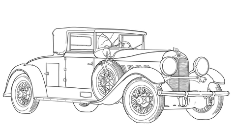 Classic Car Coloring Page Free Printable Coloring Pages