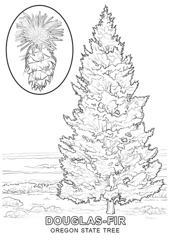 Oregon State Symbols coloring page - Free Printable Coloring ...