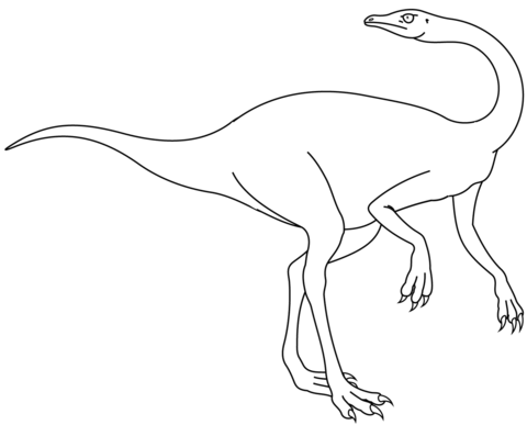 plateosaurus 9 coloring page ornithomimus coloring page