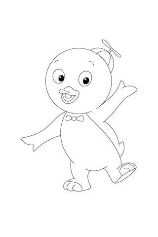 Pablo Is Waving At Us coloring page