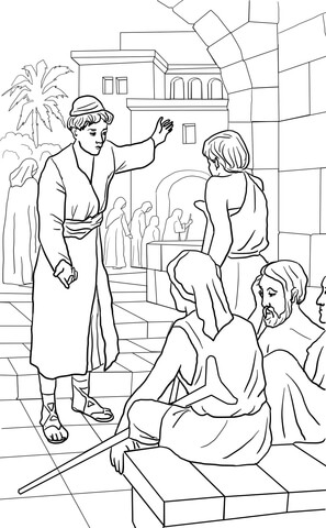 Parable Of The Unforgiving Servant Coloring Page Free