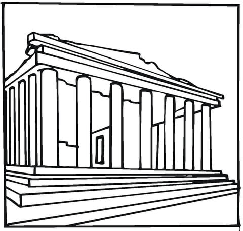 Parthenon Greece  coloring page