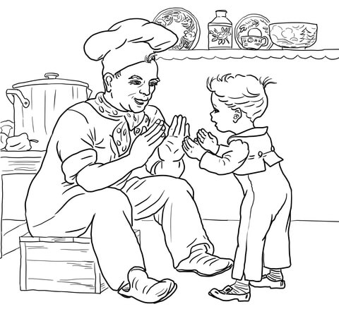 Pat a Cake coloring page