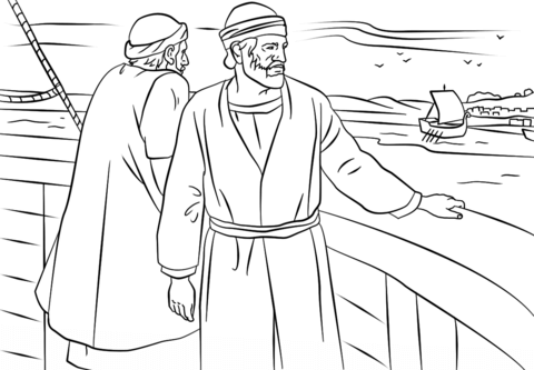 Jesus Tempted Coloring Page Paul And Barnabas Missionary Journey