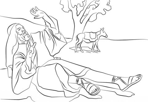 paul blinded on the road to damascus coloring page