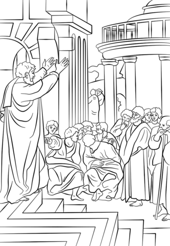 coloring pages of pauls first missionary journey