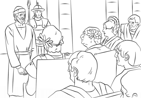 pauls trials before felix festus and agrippa coloring page
