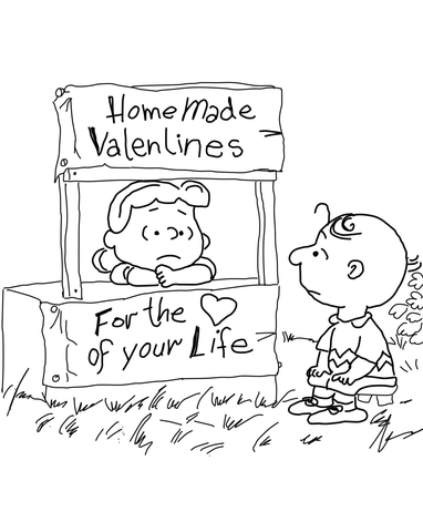 Charlie Brown Characters coloring page - Free Printable Coloring Pages