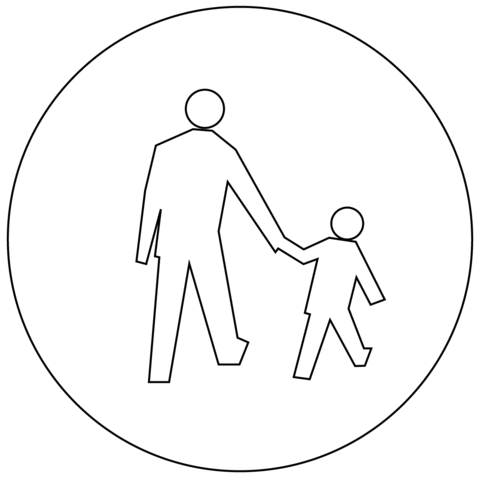 Pedestrians Only C-16 coloring page