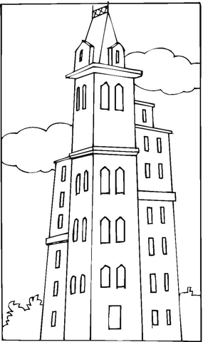 Penthouse In London  coloring page