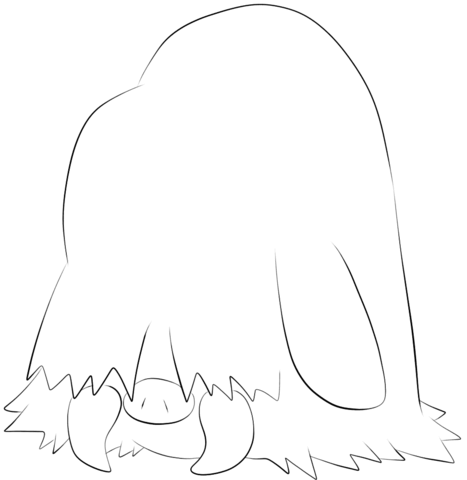 Piloswine coloring page - Free Printable Coloring Pages