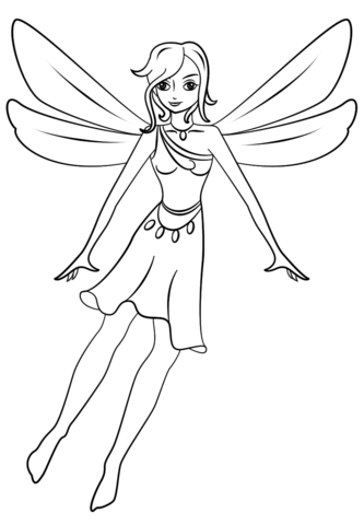 Pixie coloring page
