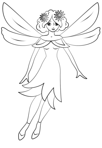 Pixie Girl coloring page