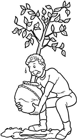 Planting a Tree coloring page