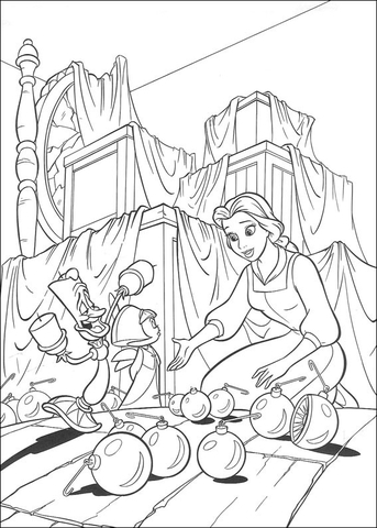 Belle coloring page - Free Printable Coloring Pages