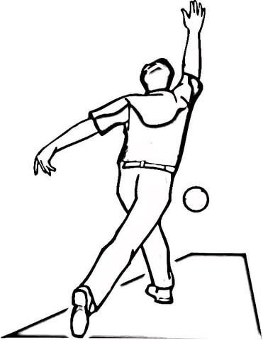 Playing Bowling  coloring page