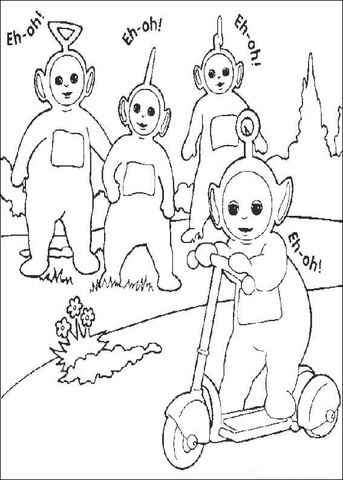 Po riding Otopet  coloring page