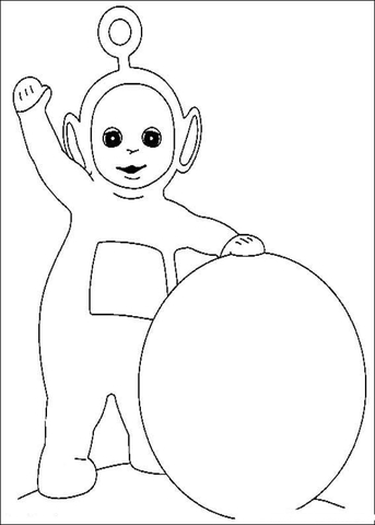 Po And His snowball  coloring page