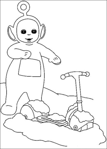 Po And Otopet  coloring page