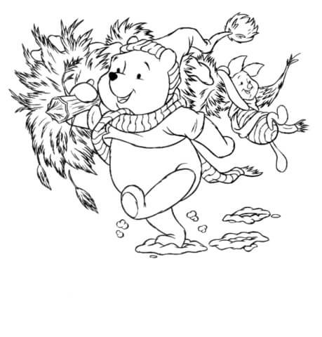 Pooh And Piglet  coloring page