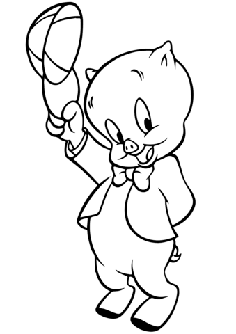 Looney Tunes Porky Coloring page