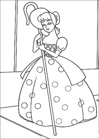 A Doll Bo Peep Coloring Page Free Printable Coloring Pages