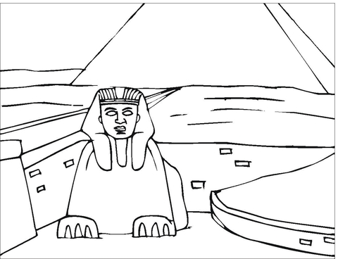 Pyramid Of Cheops  coloring page