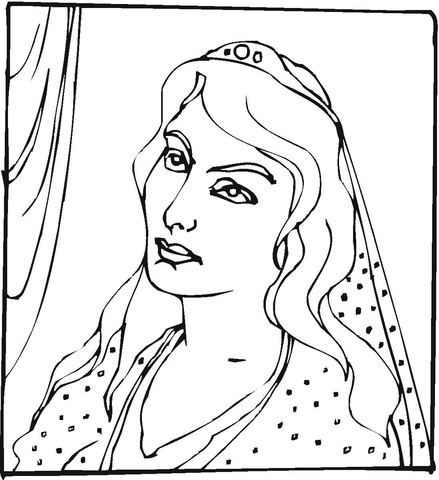 Queen Esther Coloring Page Free Printable Coloring Pages
