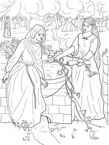 Rachel and Leah coloring page