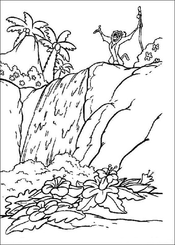 Rafiki In The Jungle coloring page