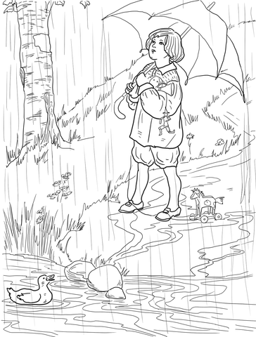 Rain, Rain, go Away coloring page