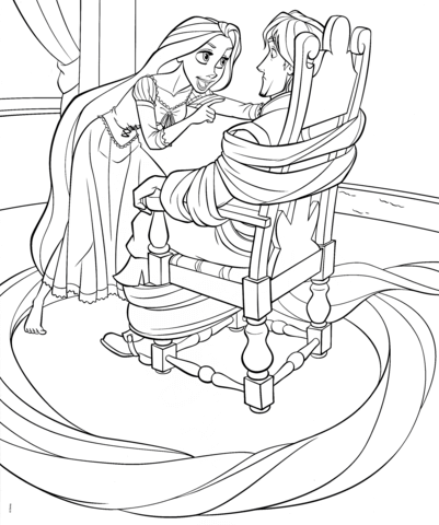 Coloring Pages For Rapunzel : Rapunzel from disney tangled coloring page free printable