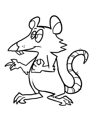 Cartoon Rat Coloring Page Free Printable Coloring Pages