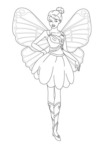 Rayla coloring page