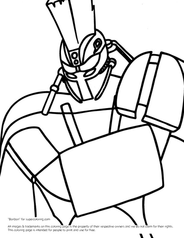 Real Steel Midas Coloring Page Free Printable Coloring Pages