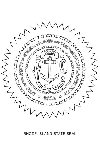 rhode island state seal coloring page