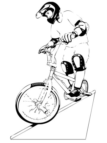 Riding Mountain Bike coloring page Free Printable Coloring Pages