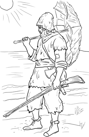 Robinson Crusoe coloring page