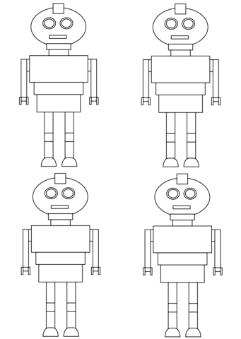 Robots Pattern coloring page